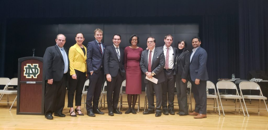Staten Island Civic Association's Public Advocates forum at New Dorp High School. Group picture with the SICA Board...candidates David Eisenbach (D), Eric Ulrich (R), Dawn Smalls D) and Jared Rich (I). Not pictured is candidate Ydanis Rodriquez (D) who had to leave before pic was taken to go to another event. We thank them all.